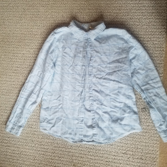 Tops - Pale blue flannel